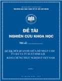 Đề tài khoa học: Mối quan hệ giữa độ nhạy cảm tỷ giá và tỷ suất sinh lợi-bằng chứng thực nghiệm ở Việt Nam