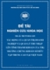 Đề tài khoa học: Tác động của quản trị doanh nghiệp và quản lý thu nhập lên tính thanh khoản của thị trường chứng khoán sở hữu tập trung cao tại Việt Nam