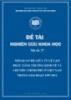 Đề tài khoa học: Mối quan hệ giữa tỷ lệ lạm phát, tăng trưởng kinh tế và chi tiêu chính phủ ở Việt Nam trong giai đoạn 1997-2012
