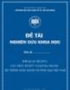 Đề tài khoa học: Mối quan hệ giữa cấu trúc sở hữu và rủi ro trong hệ thống ngân hàng thương mại Việt Nam