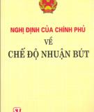 Ebook Nghị định của chính phủ về chế độ nhuận bút: Phần 2 - NXB Chính trị quốc gia