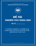 Đề tài khoa học: Tác động tài khóa của chính sách cổ phần hóa lên ngân sách nhà nước minh chứng ở Việt Nam