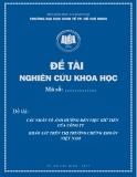 Đề tài khoa học: Các nhân tố ảnh hưởng đến việc giữ tiền của công ty khảo sát trên thị trường chứng khoán Việt Nam