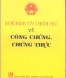 Ebook Nghị Định của chính phủ về công chứng chứng thực - NXB Chính trị Quốc gia