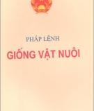 Ebook Pháp lệnh giống vật nuôi - NXB Chính trị Quốc gia