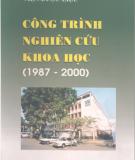 Ebook Công trình nghiên cứu khoa học (1987 - 2000) - TS. Nguyễn Thượng Dong