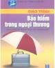 Giáo trình Bảo hiểm trong ngoại thương - Phạm Thị Lanh Anh