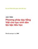 Giáo trình Phương pháp dạy tiếng Việt cho học sinh dân tộc bậc tiểu học