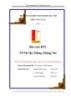 Báo cáo Bài tập lớn: Xây dựng phần mềm quản lý thư viện trường Đại học