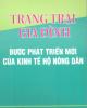 Ebook Trang trại gia đình - bước phát triển mới của kinh tế hộ nông dân - TS. Nguyễn Đình Điền