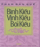 Ebook Bình Kiều, vịnh Kiều, bói Kiều: Phần 1 - Phạm Đan Quế
