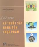 Giáo trình Kỹ thuật sấy nông sản thực phẩm - Nguyễn Văn May