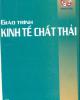 Giáo trình Kinh tế chất thải - GS.TS. Nguyễn Đình hương