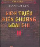 Ebook Lịch triều hiến chương loại chí (Tập 1): Phần 1 - Phan Huy Chú