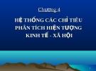 Bài giảng Nguyên lý thống kê: Chương 4 - GV. Quỳnh Phương