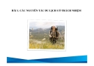 Bài giảng Du lịch có trách nhiệm: Bài 1