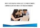 Bài giảng Du lịch có trách nhiệm: Bài 5