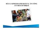 Bài giảng Du lịch có trách nhiệm: Bài 11