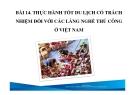 Bài giảng Du lịch có trách nhiệm: Bài 14