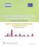 Ebook Khảo sát doanh nghiệp Việt Nam xuất khẩu vào thị trường EU: Phần 1 - NXB Tài chính