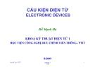 Bài giảng Cấu kiện điện tử Electronic Devices - Đỗ Mạnh Hà