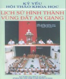 Ebook Lịch sử hình thành vùng đất An Giang: Phần 1
