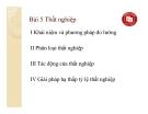 Bài giảng Kinh tế vĩ mô (ĐH Ngoại thương) - Bài 5 Thất nghiệp