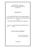 Luận văn thạc sĩ kinh tế: Các giải pháp cho các doanh nghiệp xuất khẩu của Việt Nam vượt qua rào cản kỹ thuật thương mại của Hoa Kỳ