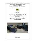Giáo trình Thực tập vận hành trên hệ thống mô phỏng - Nghề: Vận hành thiết bị hóa dầu