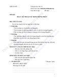 Giáo án tích hợp: Bài 3 - Kỹ thuật sử dụng bảng phấn