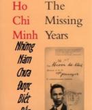 Ebook Hồ Chí Minh - Những năm chưa được biết đến
