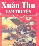 Ebook Xuân Thu tam truyện: Tập 1 - Khổng Tử