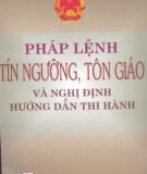 Ebook Pháp lệnh tín ngưỡng tôn giáo và nghị định hướng dẫn thi hành: Phần 2 - NXB Chính trị Quốc gia Hà Nội