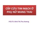 Bài giảng Cấp cứu tim mạch ở phụ nữ mang thai - PGS.TS. Đinh Thị Thu Hương