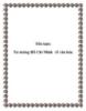 Tiểu luận: Tư tưởng Hồ Chí Minh về văn hóa