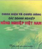 Ebook Danh hiệu và chức năng các doanh nghiệp nông nghiệp Việt Nam: Phần 2 - NXB Nông nghiệp