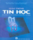 Giáo trình Tin học (Sách dùng cho các trường dạy nghề hệ 12 - 24 tháng): Phần 1 - Tiêu Kim Cương (chủ biên)