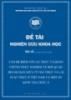 Đề tài nghiên cứu khoa học: Vấn đề điểm vỡ cấu trúc và bằng chứng thực nghiệm về mối quan hệ dài hạn giữa tỷ giá thực và lãi suất thực ở Việt Nam và một số quốc gia Châu Á