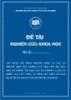 Đề tài khoa học: Vận dụng mô hình ohlson (1995) và các lý thuyết hiện đại nghiên cứu mối liên hệ giữa một số thông tin báo cáo tài chính và giá cổ phiếu của các công ty niêm yết trên sở giao dịch chứng khoán TP. Hồ Chí Minh