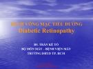 Bài giảng Bệnh võng mạc tiểu đường - BS. Trần Kế Tổ