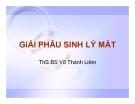 Bài giảng giải phẫu sinh lý mắt - ThS.BS. Võ Thành Liêm