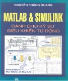 Ebook MATLAB và Simulink dành cho kỹ sư điều khiển tự động - Nguyễn Phùng Quang