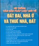 Ebook Hệ thống văn bản pháp luật mới về đất đai, nhà ở và thuế nhà, đất: Phần 2 - NXB Tài chính
