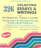Ebook 326 selected essays & writings for all purposes, Topics & Levels (Tuyển tập các bài luận sơ cấp, trung cấp & nâng cao): Phần 1 - Srinivasan