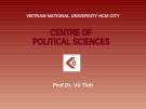 Bài giảng Lịch sử triết học phương Đông - Prof.Dr. Vũ Tình