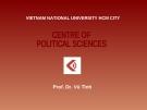 Bài giảng Lịch sử  Mác - Lênin - Prof.Dr. Vũ Tình