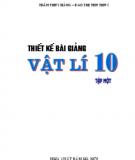 Ebook Thiết kế bài giảng Vật lí 10: Tập 1 - Trần Thúy Hằng, Đào Thị Thu Thủy