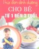 Ebook Thực đơn dinh dưỡng cho trẻ từ 1 - 3 tuổi - Hồng Yến