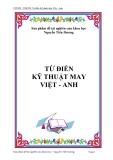 Từ điển Kỹ thuật may Việt - Anh