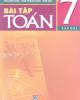 Ebook Bài tập Toán 7: Tập 2 (Phần 1) - Tôn Thân (chủ biên)